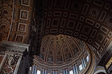 Italy, Lazio, Rome, Vatican City: Low Angle View Of St Peter Basilica