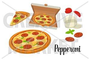 pizza Pepperoni Hawaiian Margherita