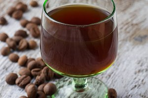 Glass of coffee liquor