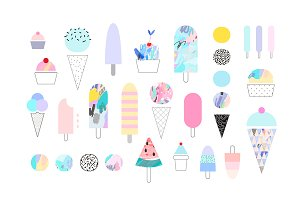 ICE CREAM vector pack