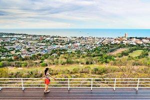 Tourists on viewpoint Hua Hin