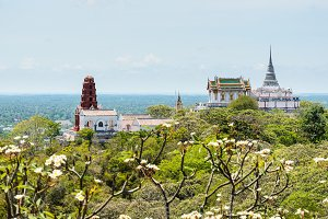 View Phra Nakhon Khiri on mountain