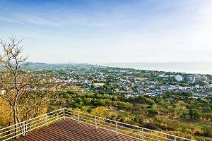 High angle view Hua Hin city
