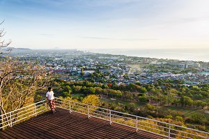High angle view Hua Hin city