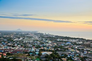 view Hua Hin city at sunrise Product