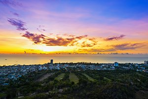 view Hua Hin city at sunrise Product