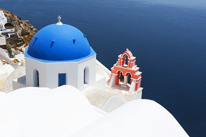 Church in Oia, Santorini, Greece