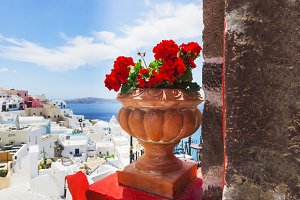 View in Thira, Santorini, Greece