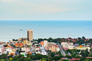 Hight angle view Hua Hin city