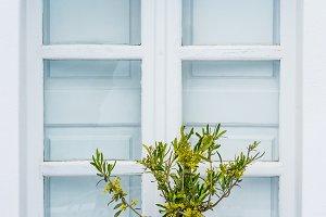 Window, Santorini, Greece