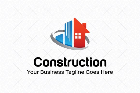 construction logo template logo templates creative market