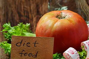 Concept of diet food