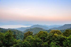 High angle view mountain