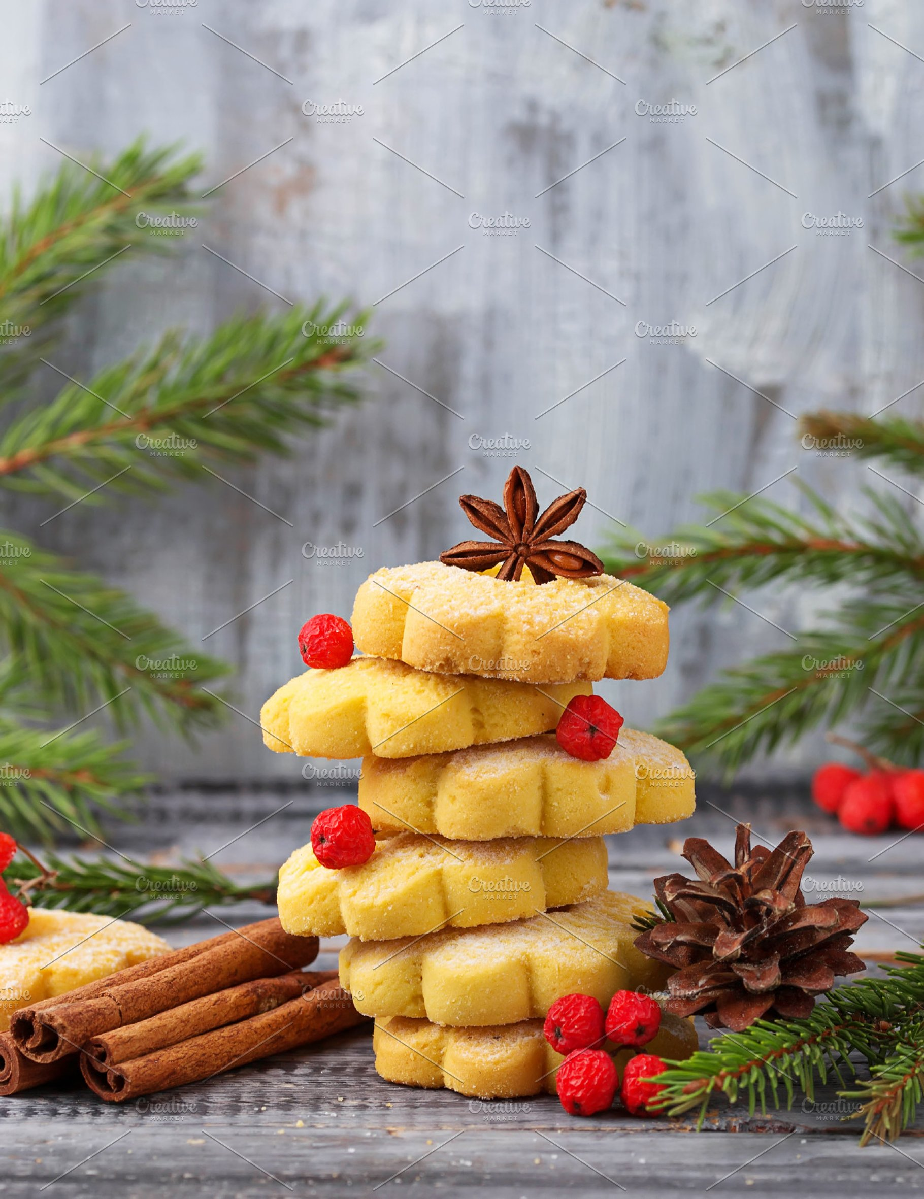 Cookies In Form Of Christmas Tree