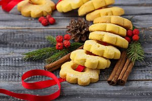Sweet shortbread cookies