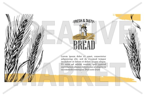 Flayer, logo for bakery
