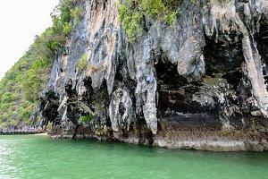 Island and sea in Ao Phang Nga Bay