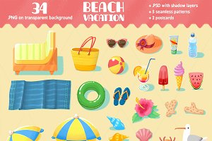 Beach Vacation set