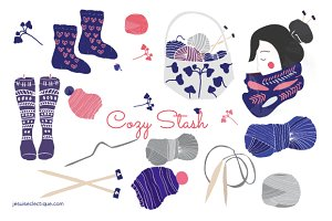 Knitting Graphics and Clip Art