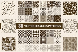 Pack of 36 vector seamless patterns