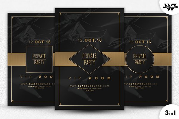 3in1 PRIVATE VIP Flyer Template