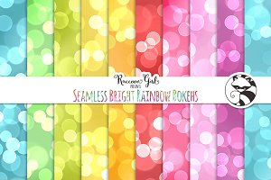 Seamless Bright Rainbow Bokehs