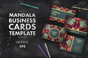 Mandala business card 004