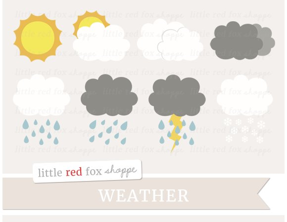 Weather Clipart in Illustrations
