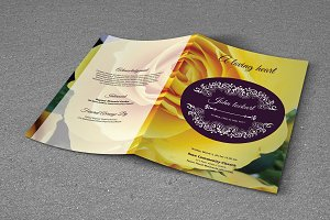 Funeral Program Template-T465