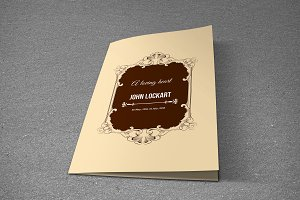 Funeral Program Template-T467