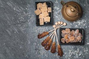 Various kinds of brown sugar