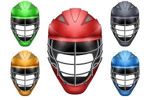 Lacrosse Helmets Set Front View