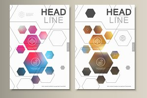 Template abstract hexagonal