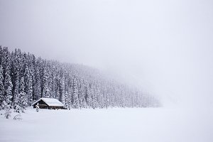 Little House on the Frozen Lake