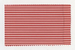 Red Striped fabric sample