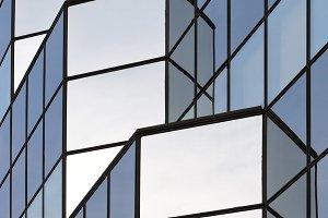 Fragment of a glass skyscraper