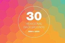 30 Hexagon Backgrounds