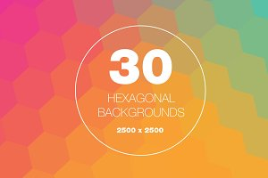 30 Hexagon Backgrounds