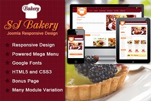 SJ Bakery - Best template for food