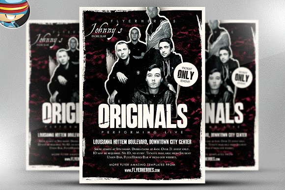 Band Flyer Template Live Concert Flyer Poster Template Designed To
