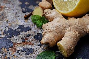 Ginger, lemon and mint