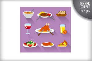 Dinner and Breakfast icons