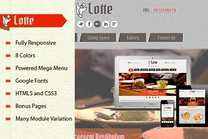 SJ Lotte -Restaurant Joomla template