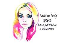 A fashion lady