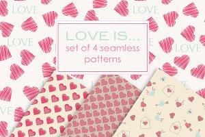 Valentines Digital Paper, Scrapbook