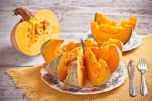 Slices of pumpkin