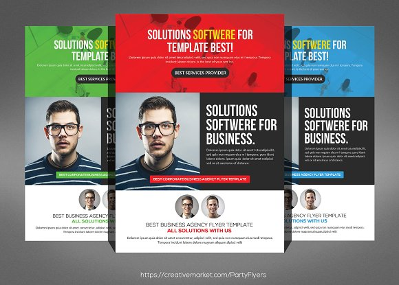Software House Flyer Template Flyer Templates on Creative Market – House Flyer Template
