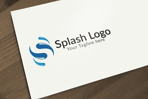 Splash S letter Logo Design