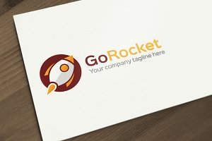 Go Rocket Logo Design Template