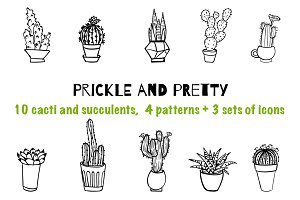 Prickle and pretty - cactus patterns